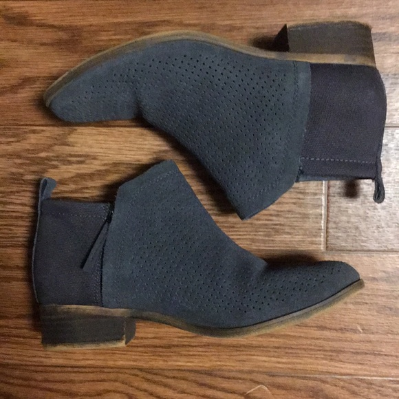 b48fbef3aad Toms Shoes - TOMS Deia Bootie - grey perforated